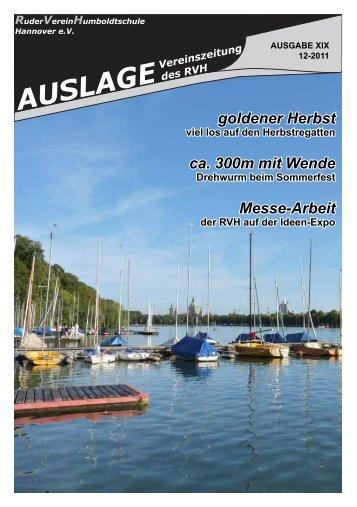 Auslage 03 2011 - RuderVerein Humboldtschule Hannover eV