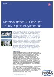 Motorola stattet G8-Gipfel mit TETRA-Digitalfunksystem aus