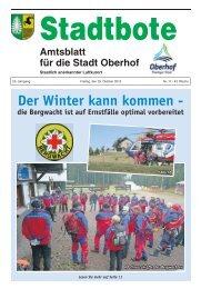 Der Winter kann kommen - - Oberhof