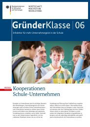 Kooperationen Schule-Unternehmen - Unternehmergeist in die ...
