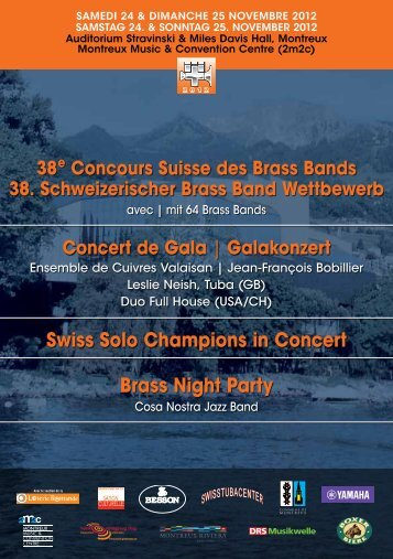 Swiss Solo Champions in Concert Brass Night Party - SBBV