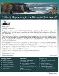September 2012 Newsletter - Diocese of Monterey