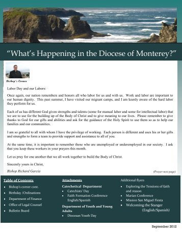 September 2012 Newsletter - Diocese of Monterey