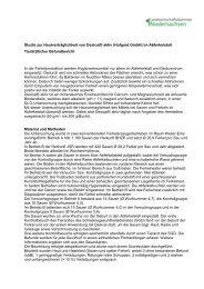 Studie zur Hautverträglichkeit von Desical® aktiv (Hufgard GmbH ...