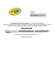 Champion Creatively Alive Children - National Association of ...