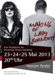 23+24+25 Mai 2013 2000 Uhr - Streaming Theatre Hamburg