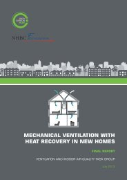 Mechanical Ventilation with Heat Recovery in ... - Zero Carbon Hub