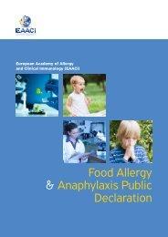 european food allergy & anaphylaxis public declaration