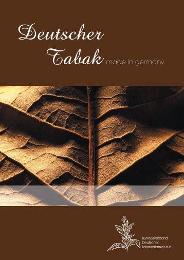 download (pdf, 2MB) - Bundesverband Deutscher Tabakpflanzer eV