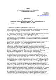 siehe auch Protokoll der Mitgliederversammlung 2006 - Verein ...