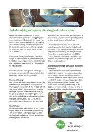 Foderberedningsanläggning - förebyggande information