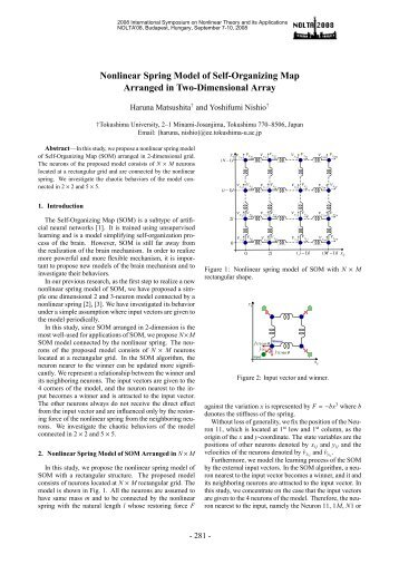 Nonlinear Spring Model of Self-Organizing Map Arranged in Two ...