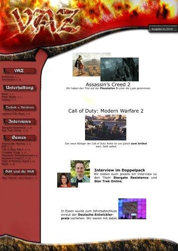 Assassin's Creed 2 Call of Duty: Modern Warfare 2 - VAZ-Online.de
