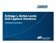 Schlage Anti-Ligature Sales Presentation - Access Hardware Supply