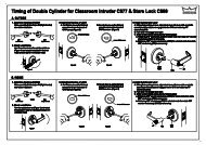 Timing of Double Cylinder for Classroom Intruder C811 & Store Lock ...