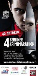 Programmheft - Berliner Krimimarathon