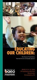 educating our children - Black Alliance for Educational Options