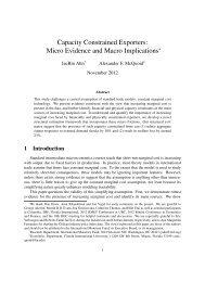 Micro Evidence and Macro Implications - Department of Economics