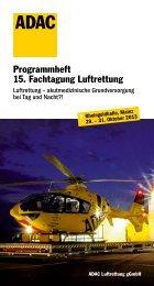 Programmheft 15. Fachtagung Luftrettung