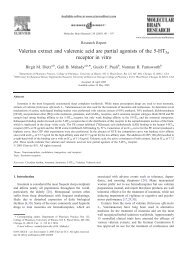 Valerian extract and valerenic acid are partial agonists of ... - Nutraxin