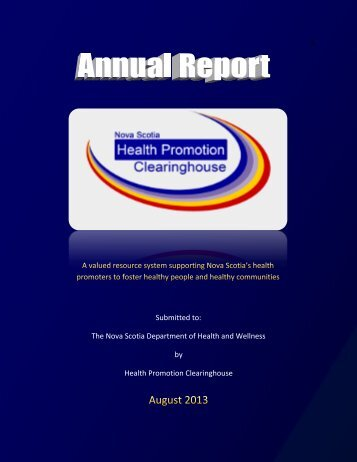 2012-2013 - Health Promotion Clearinghouse