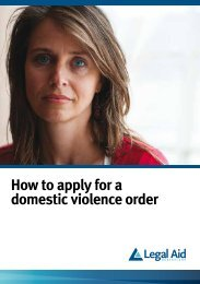 How to apply for a domestic violence order - Legal Aid Queensland