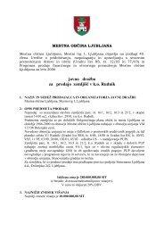 javno dražbo za prodajo zemljišč v k.o. Rudnik - Ljubljana