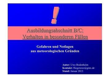Ausbildungsabschnitt B/C: Verhalten in besonderen Fällen - SFG ...