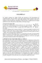 Les omega-3 - Association Végétarienne de France
