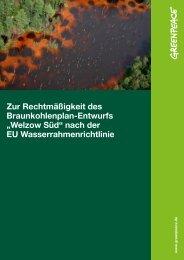 Rechtsgutachten Laskowski - Greenpeace