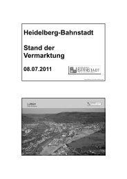 Heidelberg-Bahnstadt Stand der Vermarktung - Die Heidelberger ...