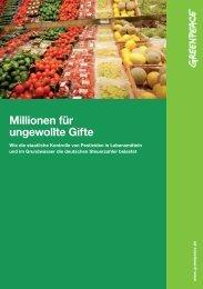 Studie: Millionen für ungewollte Gifte - Greenpeace