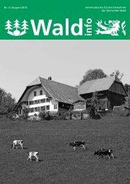 Ausgabe 3/2013 - Gemeindeverwaltung Wald-BE