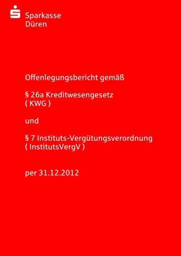 Offenlegungsbericht 2012 - Sparkasse Düren
