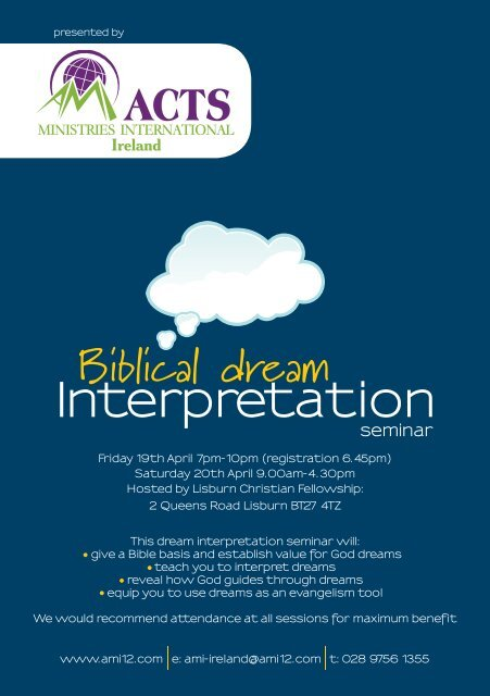Biblical dream - Home | Acts Ministries International