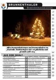 Gemeindenachrichten 12/2013 - Brunnenthal