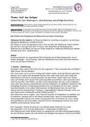 Thema: Duft des Heiligen Untertitel: Der Weihrauch, als kultisches ...