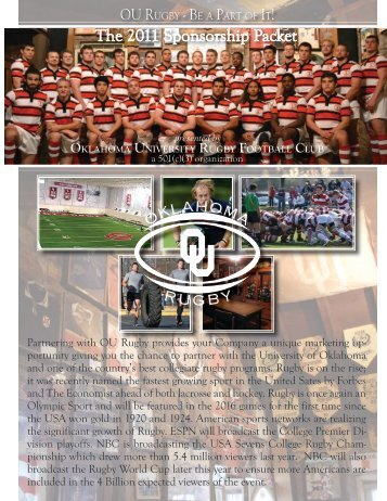 Partnering with OU Rugby provides your Company a unique ...