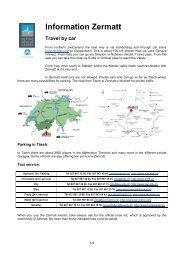 Informationen Zermatt
