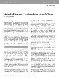 """""""Patient Blood Management"""" – vom Blutprodukt zur individuellen ..."""