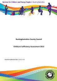 Childcare Sufficiency Assessment 2013 annual report