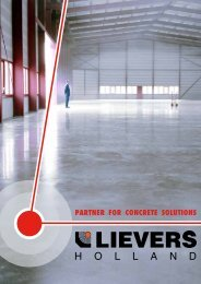 PARTNER FOR CONCRETE SOLUTIONS - Lievers