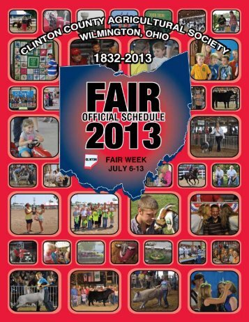 2013 fairbook - Clinton County Fair