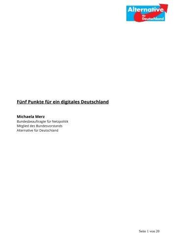 Fünf Punkte für ein digitales Deutschland - Alternative für ...