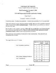 Final Examination, December 5, 2008 - Skule