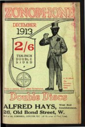Zonophone Double Sided Discs for December 1913