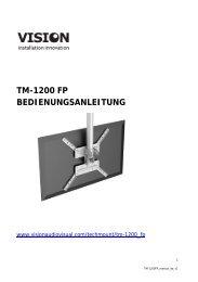 TM-1200 FP BEDIENUNGSANLEITUNG - Vision