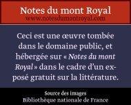 I! (il - Notes du mont Royal