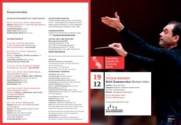 Download Programmheft - Deutsches Symphonie-Orchester Berlin