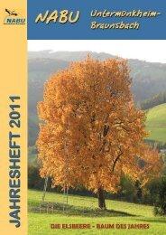 Jahresbericht 2011 [1,5 MB] - NABU Untermünkheim-Braunsbach